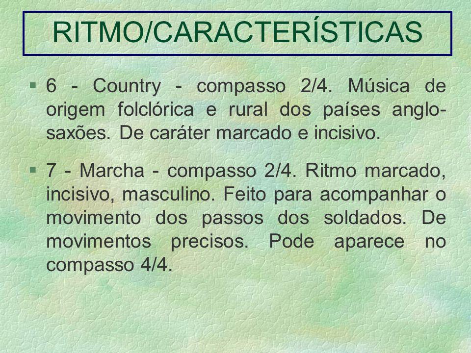 RITMO/CARACTERÍSTICAS