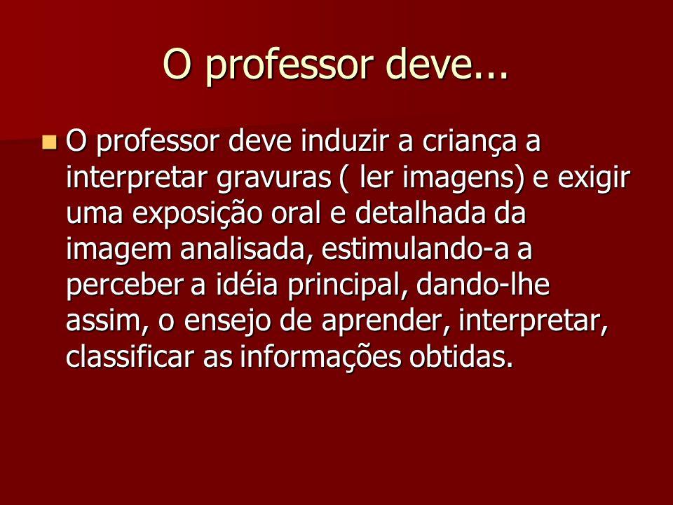 O professor deve...