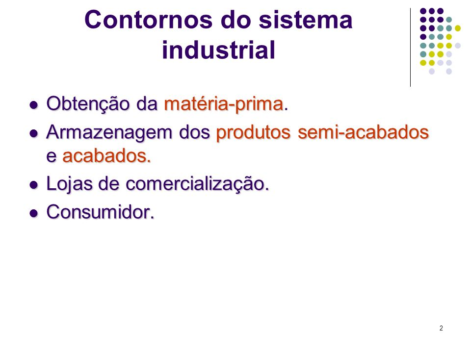 Contornos do sistema industrial
