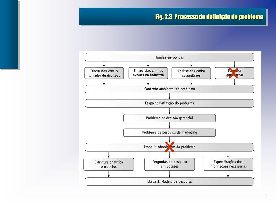 Fig. 2.3 Processo de definição do problema