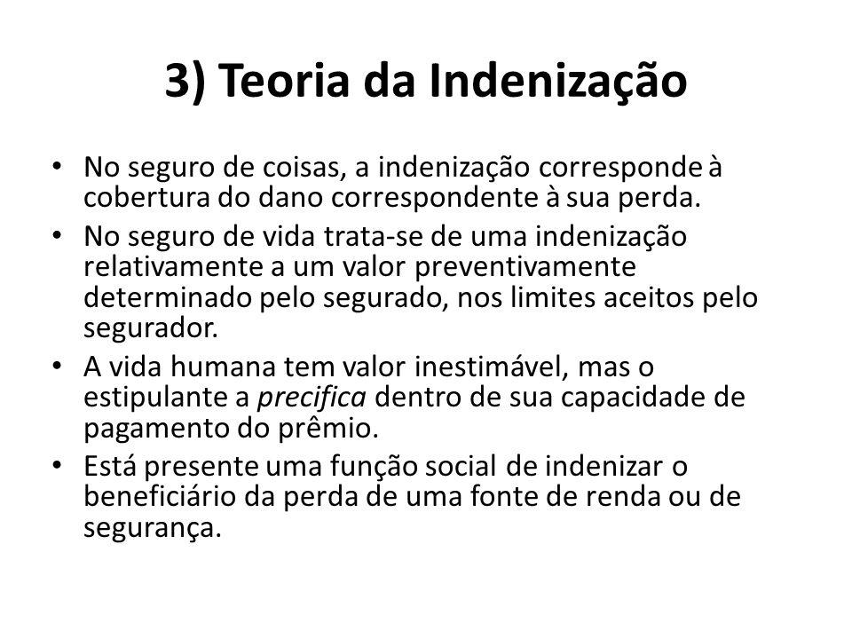 3) Teoria da Indenização