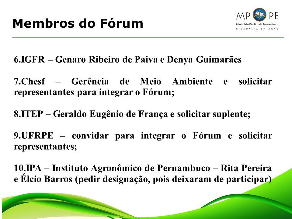 Membros do Fórum 6.IGFR – Genaro Ribeiro de Paiva e Denya Guimarães