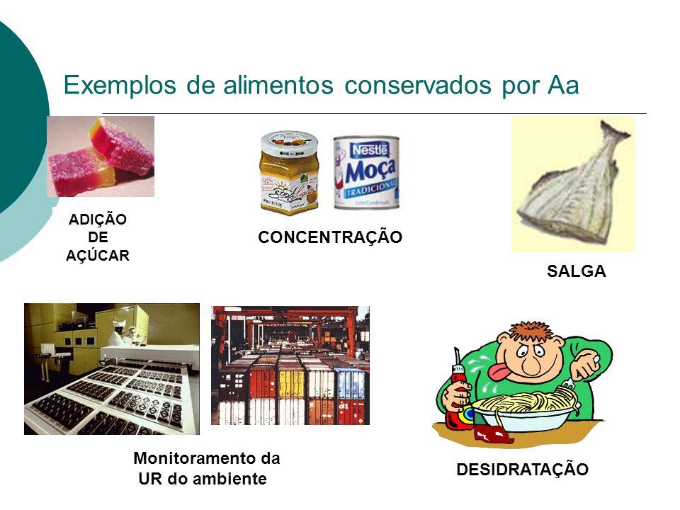 Exemplos de alimentos conservados por Aa