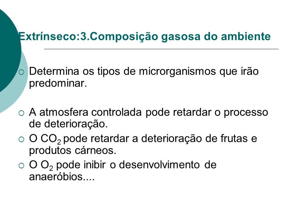 Extrínseco:3.Composição gasosa do ambiente