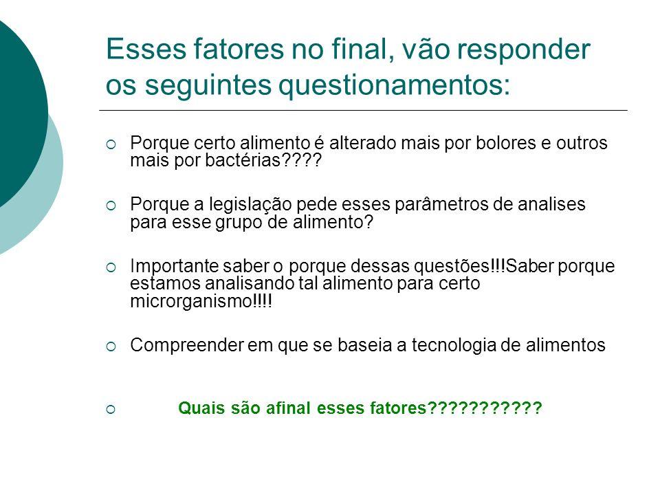 Esses fatores no final, vão responder os seguintes questionamentos: