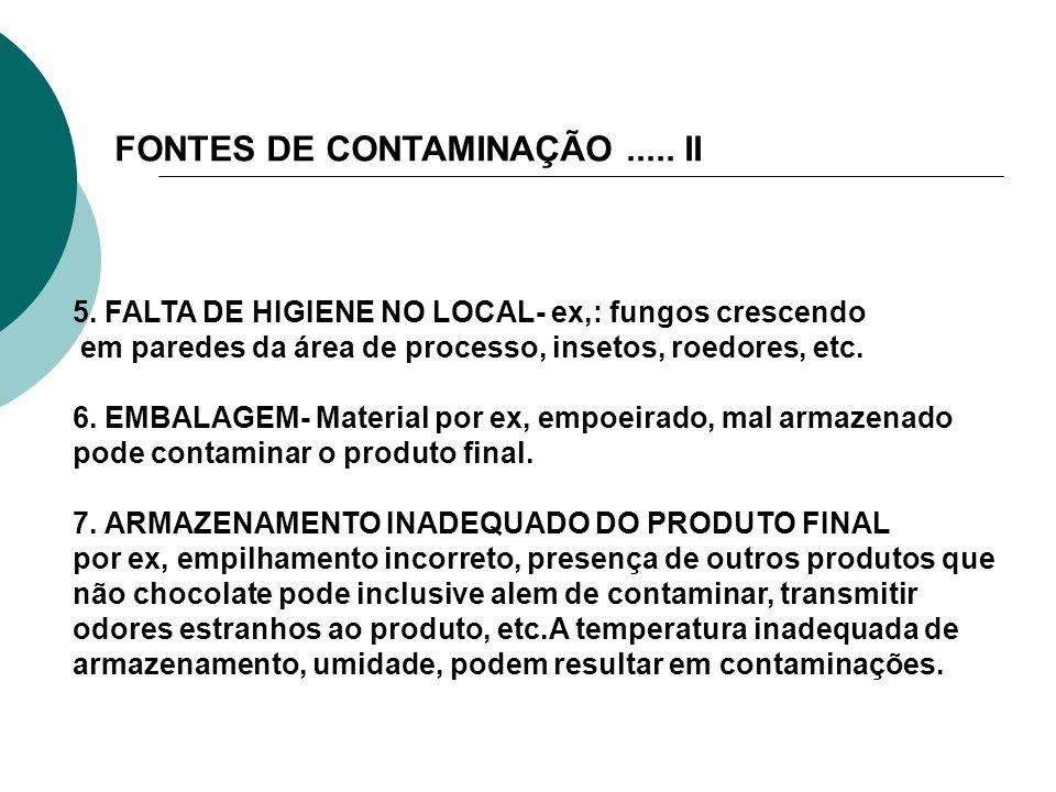 FONTES DE CONTAMINAÇÃO ..... II