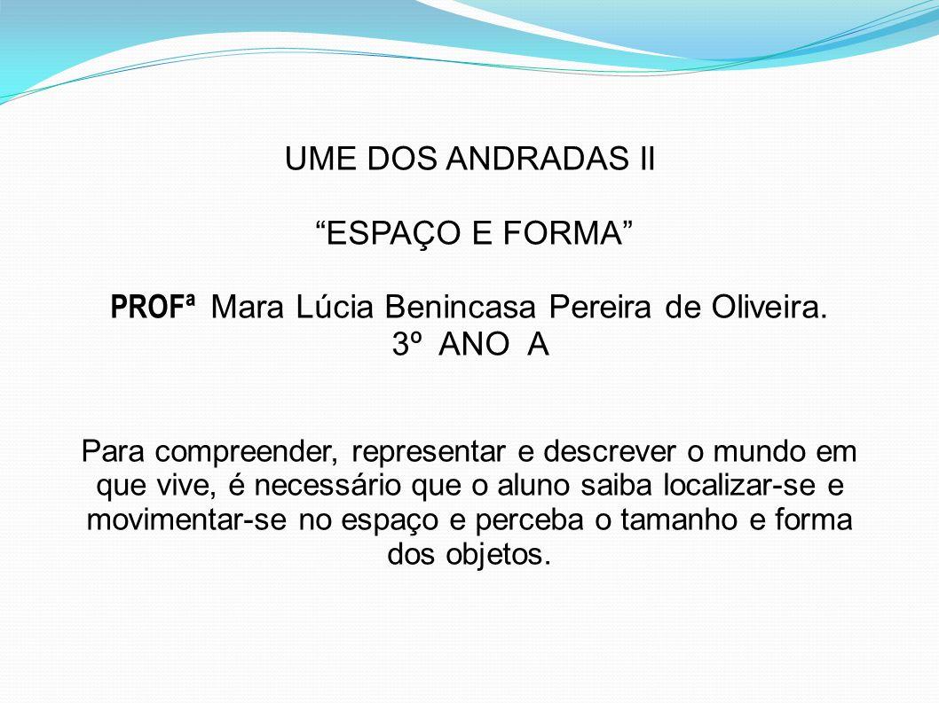 PROFª Mara Lúcia Benincasa Pereira de Oliveira.