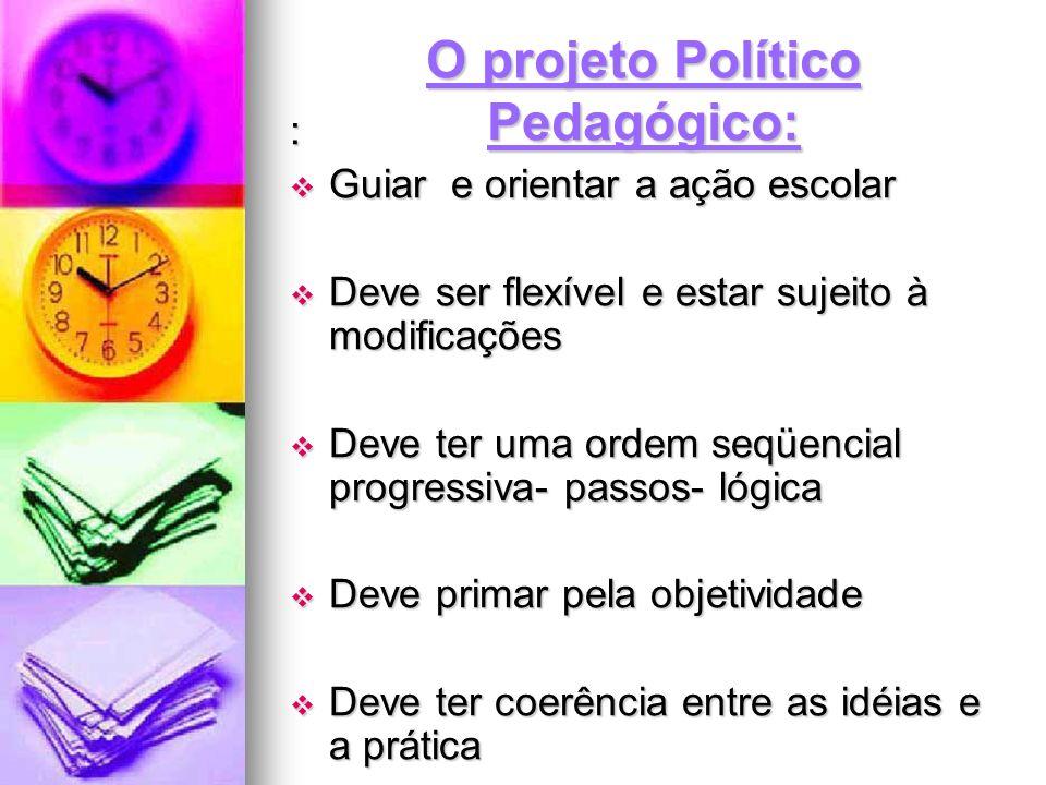 O projeto Político Pedagógico: