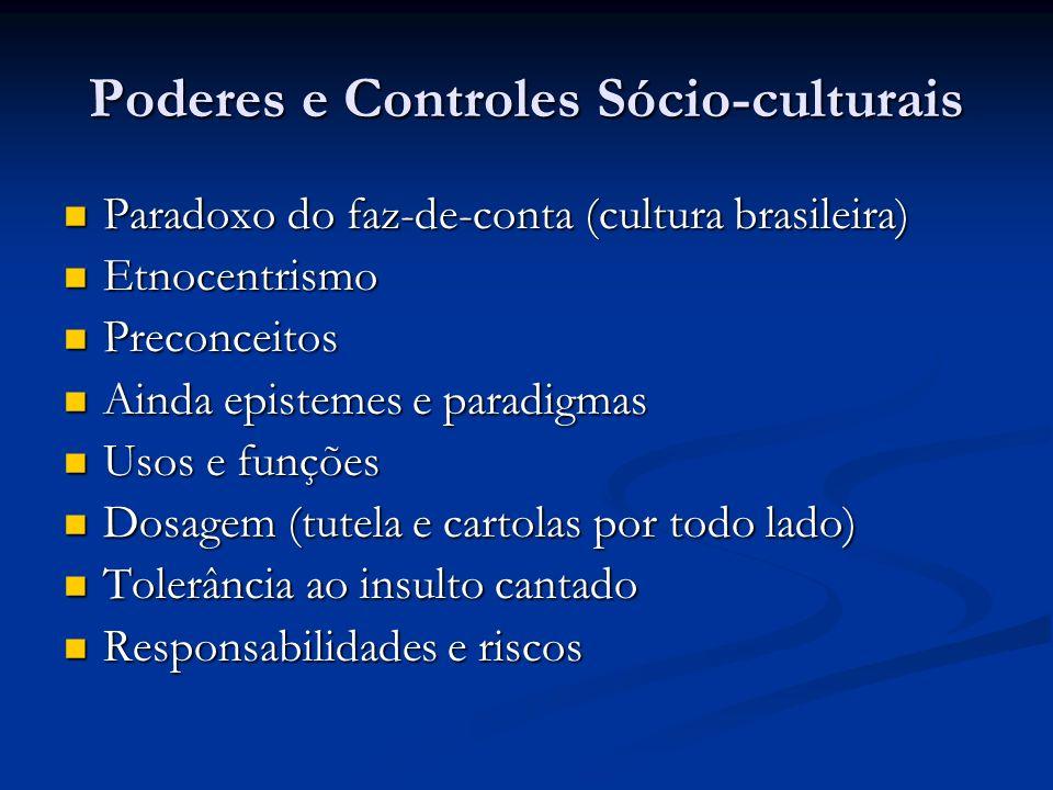 Poderes e Controles Sócio-culturais