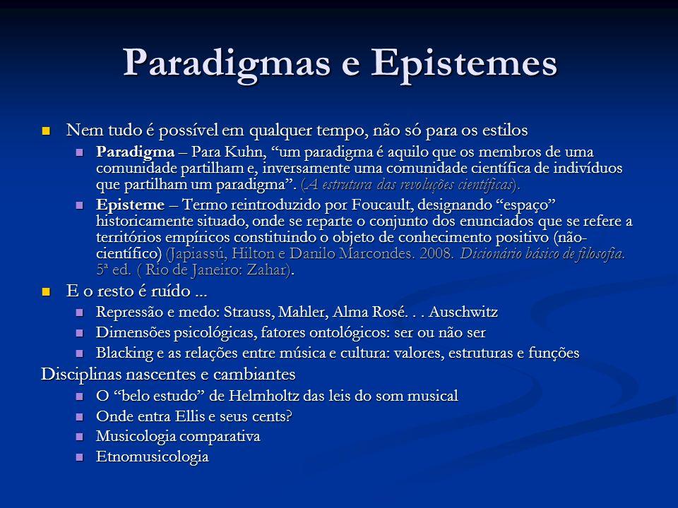 Paradigmas e Epistemes