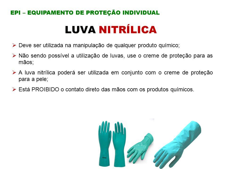 LUVA NITRÍLICA EPI – EQUIPAMENTO DE PROTEÇÃO INDIVIDUAL