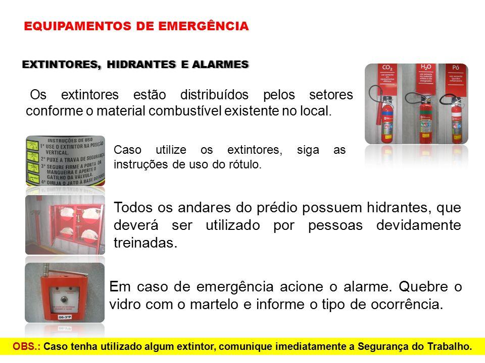 EQUIPAMENTOS DE EMERGÊNCIA