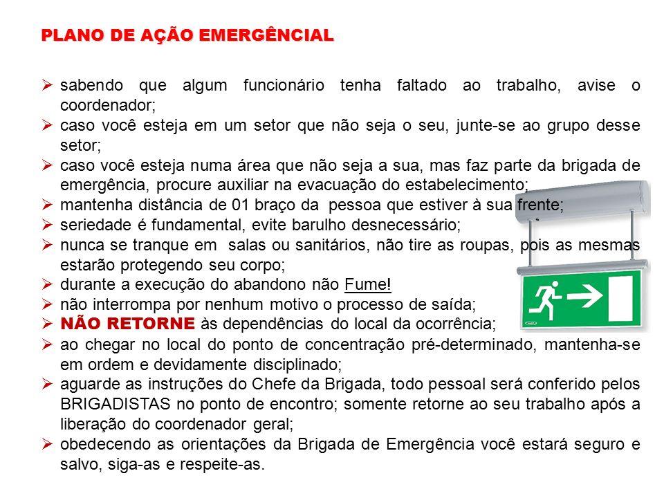 PLANO DE AÇÃO EMERGÊNCIAL