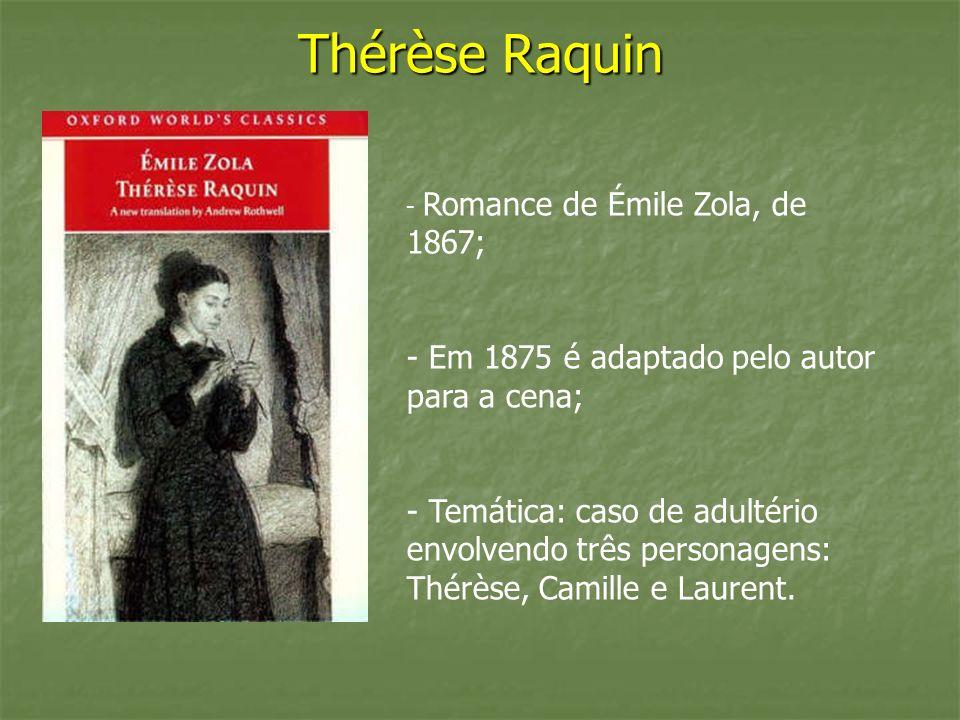 Thérèse Raquin Em 1875 é adaptado pelo autor para a cena;