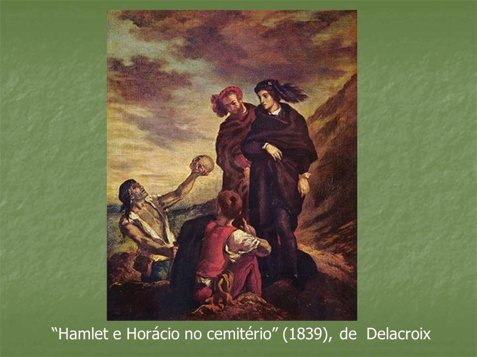 Hamlet e Horácio no cemitério (1839), de Delacroix