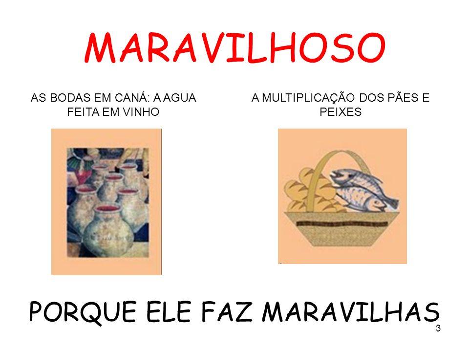 MARAVILHOSO PORQUE ELE FAZ MARAVILHAS