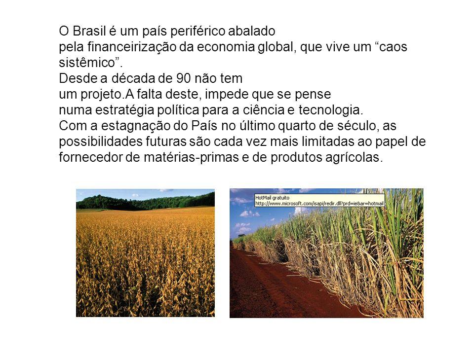 O Brasil é um país periférico abalado pela financeirização da economia global, que vive um caos sistêmico .