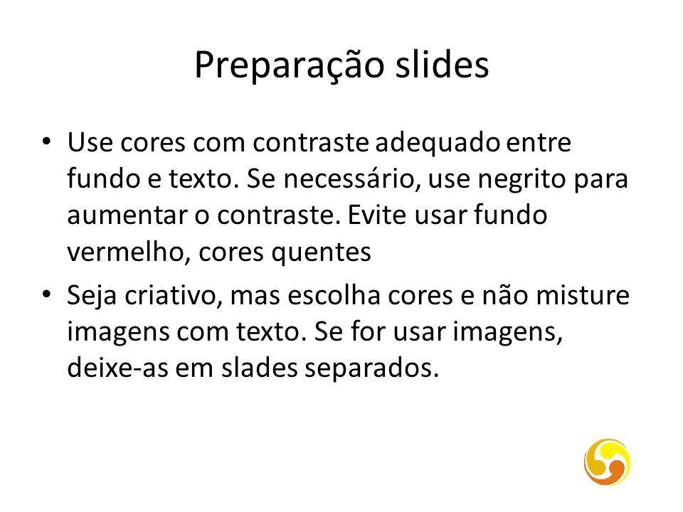 Preparação slides