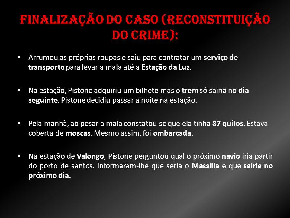 Finalização do caso (Reconstituição do Crime):