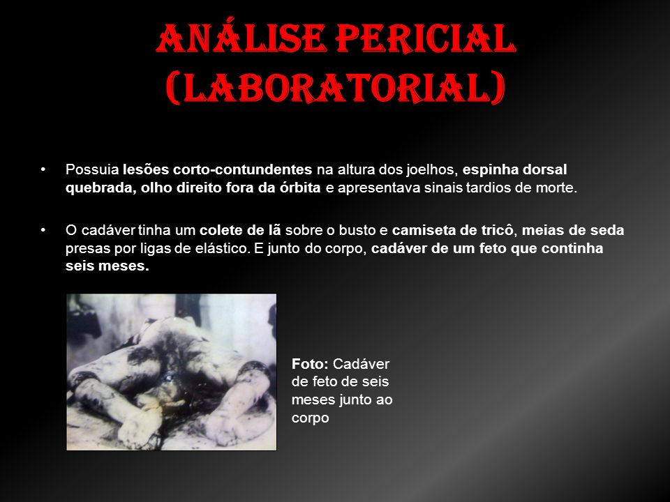 Análise Pericial (Laboratorial)