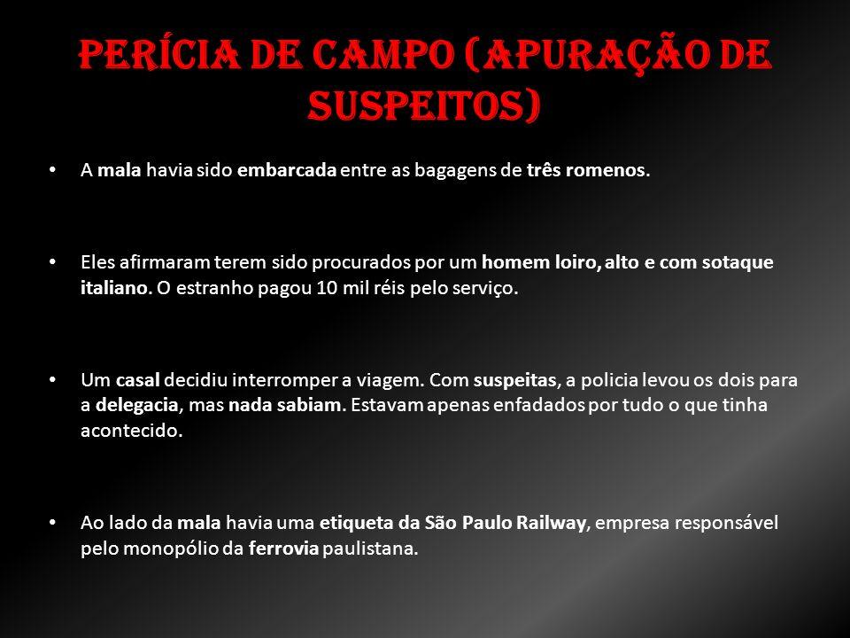 Perícia de Campo (Apuração de Suspeitos)