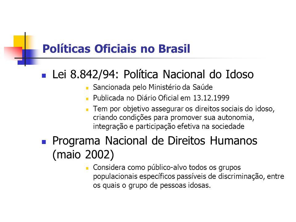 Políticas Oficiais no Brasil