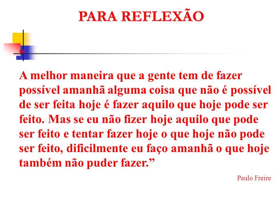 PARA REFLEXÃO