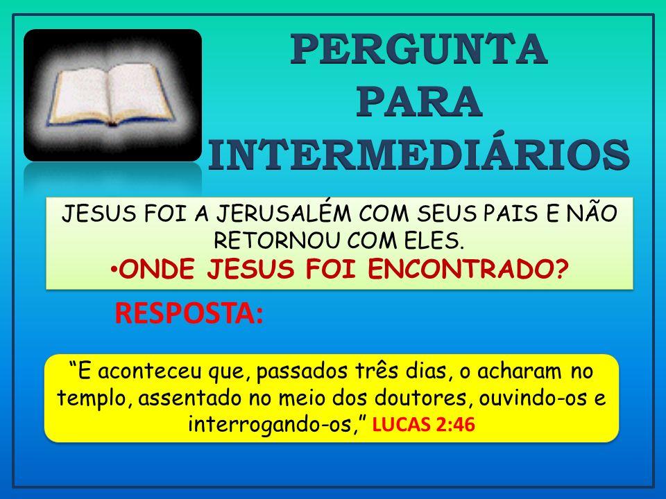 ONDE JESUS FOI ENCONTRADO