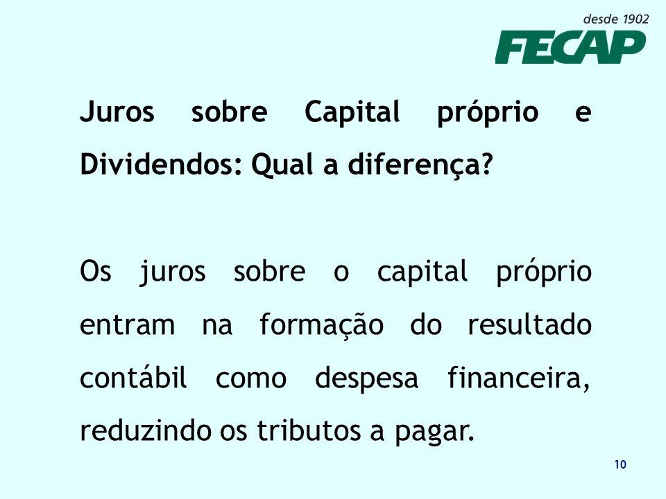 Juros sobre Capital próprio e Dividendos: Qual a diferença