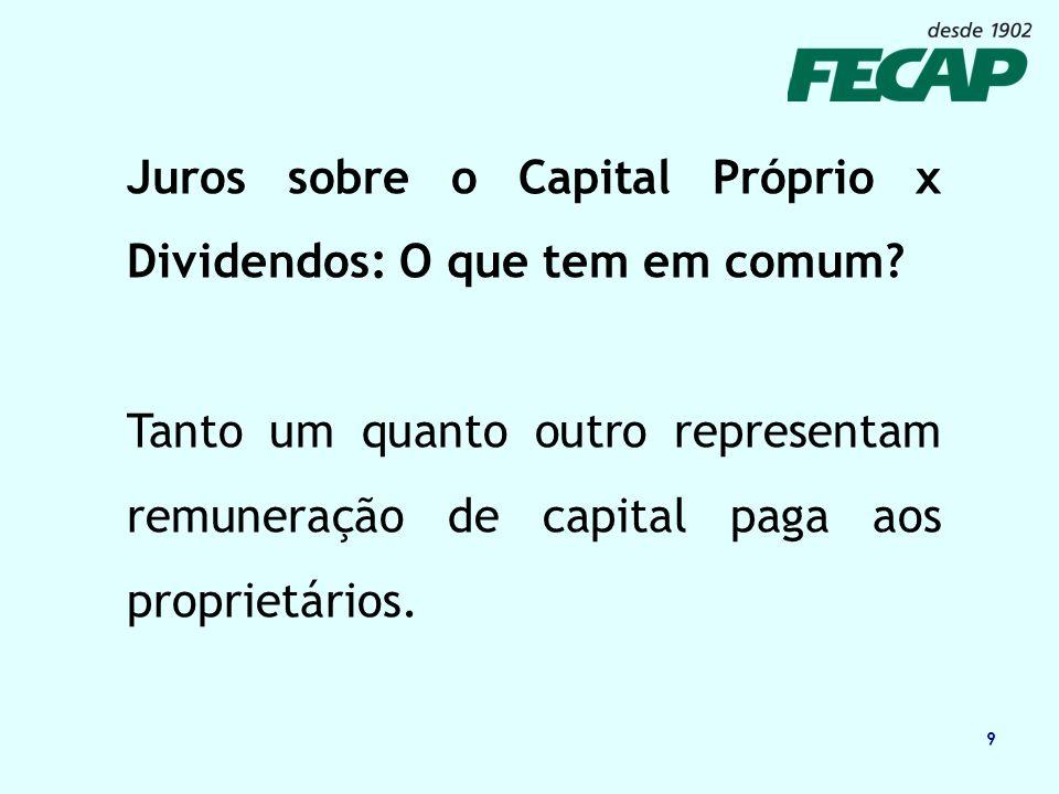 Juros sobre o Capital Próprio x Dividendos: O que tem em comum