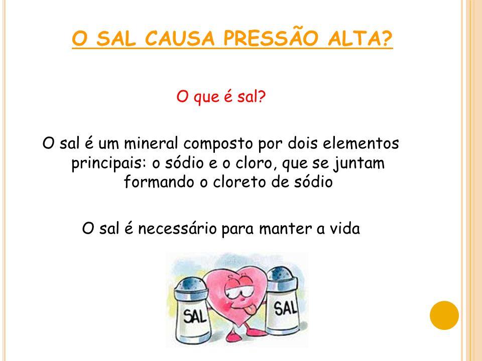 O SAL CAUSA PRESSÃO ALTA