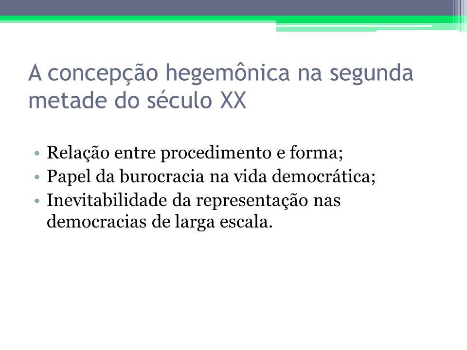 A concepção hegemônica na segunda metade do século XX
