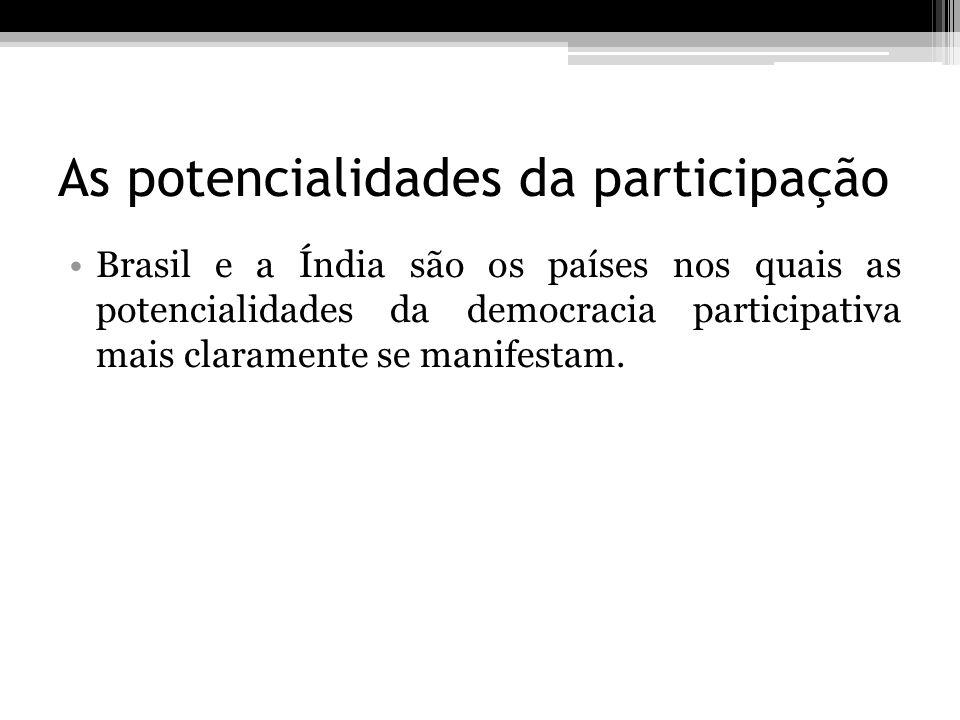 As potencialidades da participação