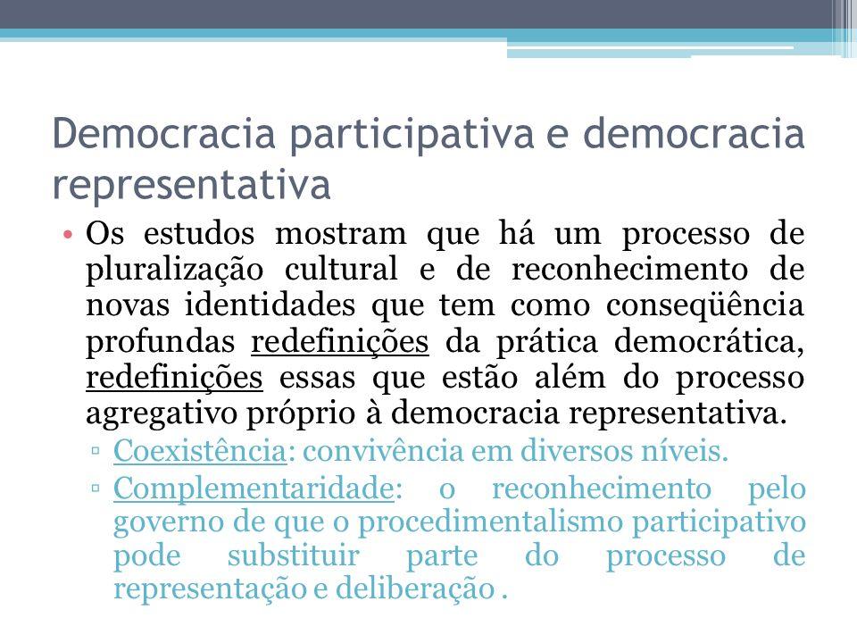 Democracia participativa e democracia representativa