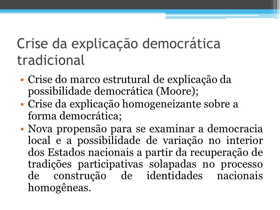 Crise da explicação democrática tradicional