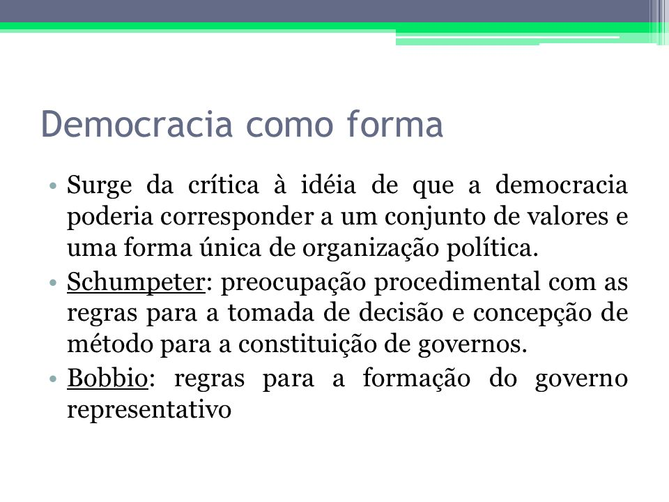 Democracia como forma