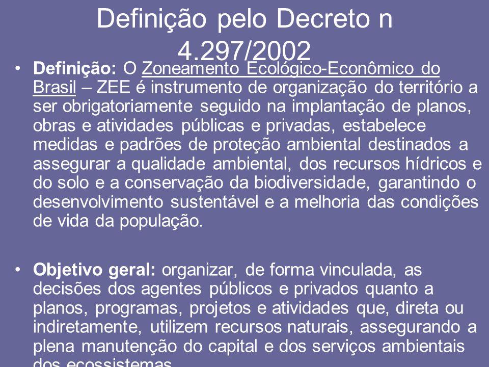 Definição pelo Decreto n 4.297/2002