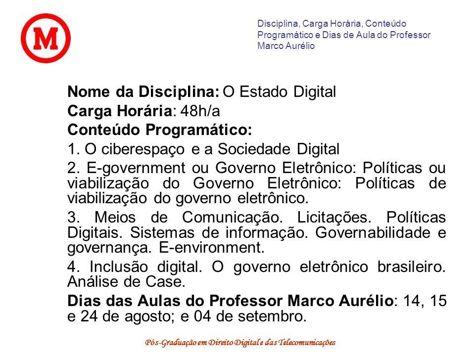 Pós-Graduação em Direito Digital e das Telecomunicações