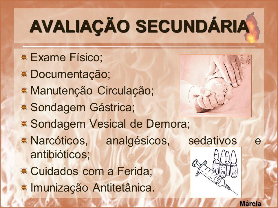 AVALIAÇÃO SECUNDÁRIA Exame Físico; Documentação;