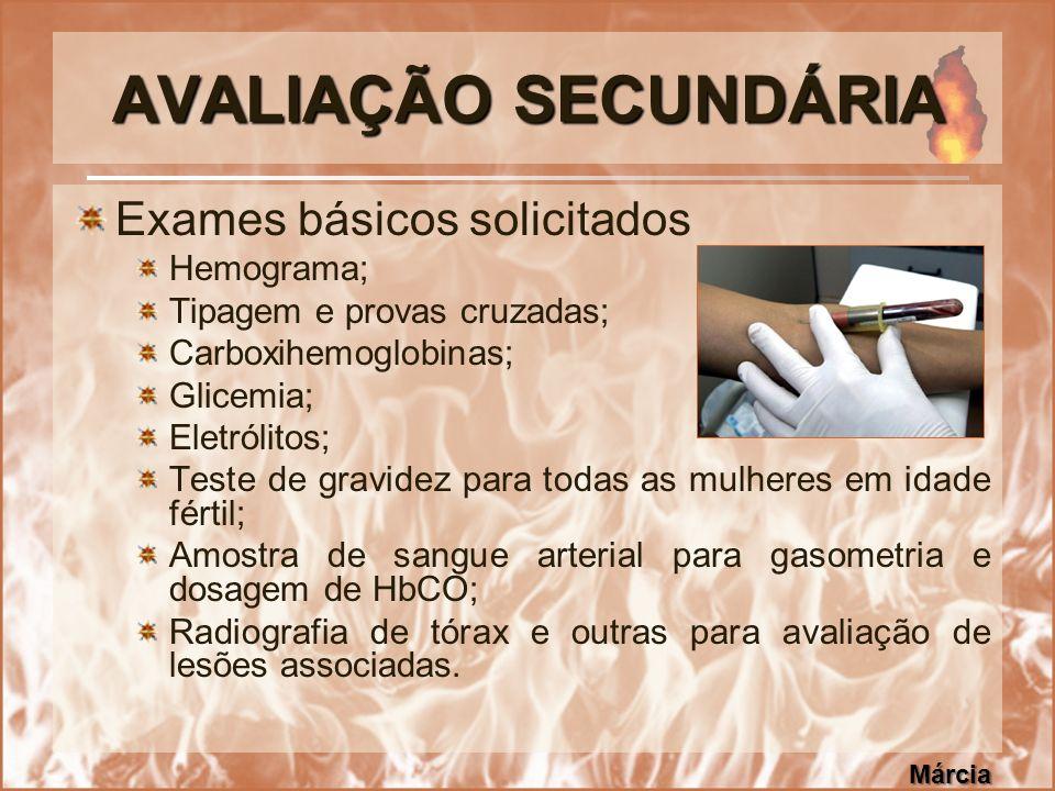 AVALIAÇÃO SECUNDÁRIA Exames básicos solicitados Hemograma;
