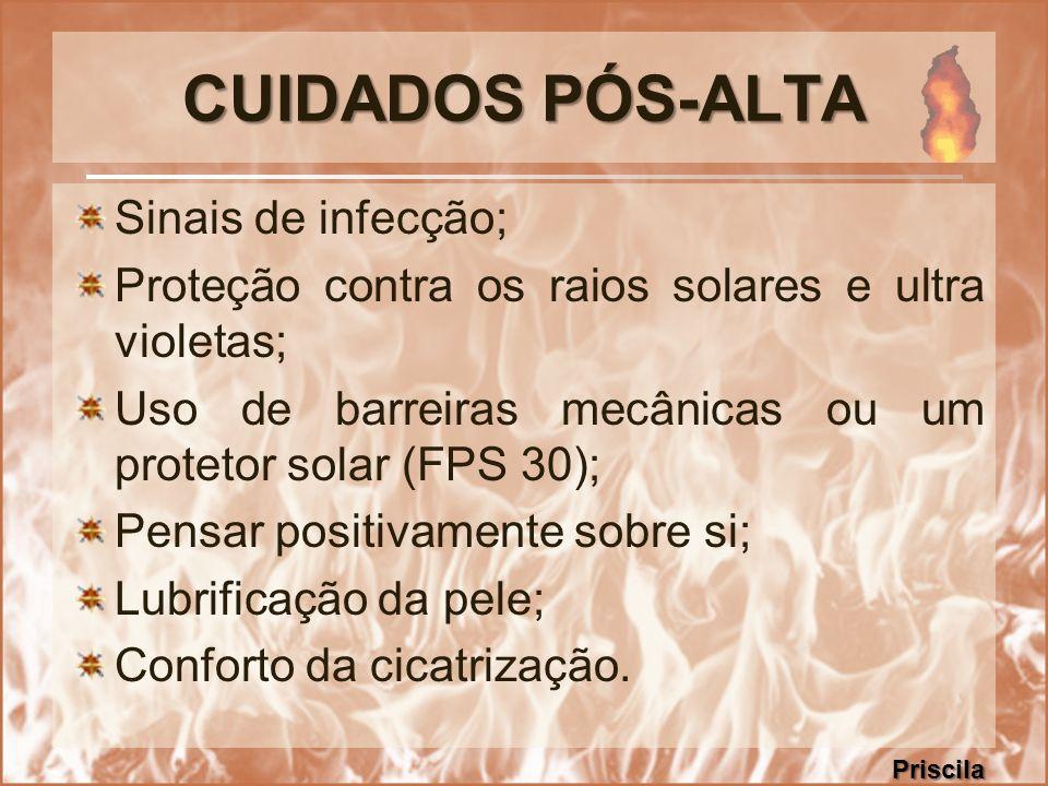 CUIDADOS PÓS-ALTA Sinais de infecção;