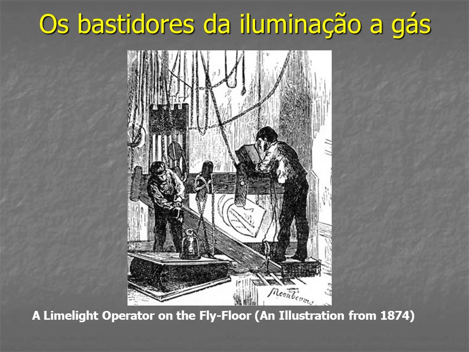 Os bastidores da iluminação a gás