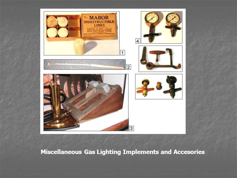 Miscellaneous Gas Lighting Implements and Accesories