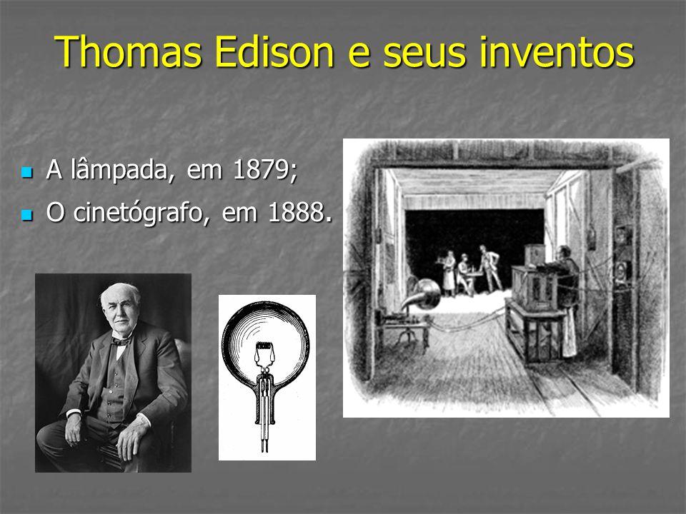 Thomas Edison e seus inventos