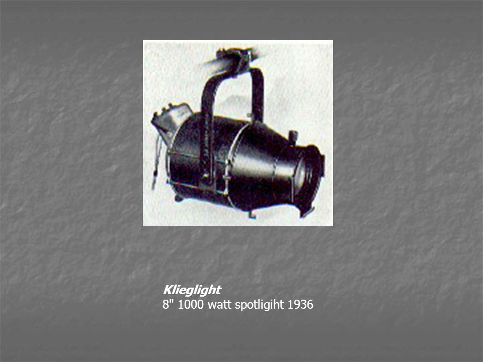 Klieglight 8 1000 watt spotligiht 1936