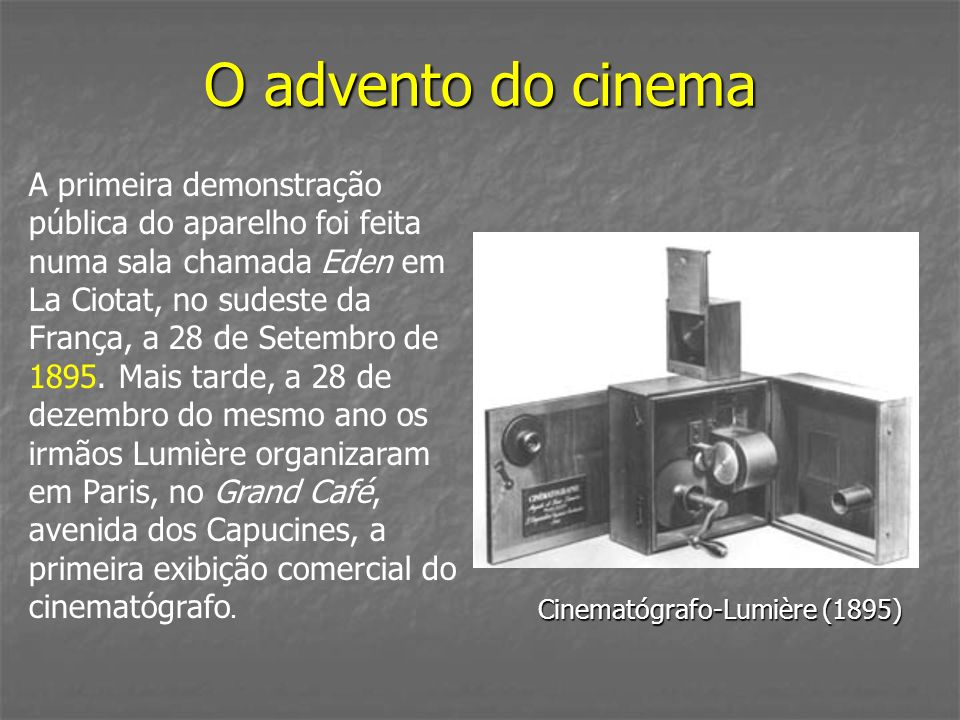 O advento do cinema
