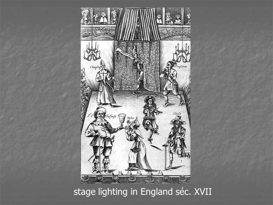 stage lighting in England séc. XVII