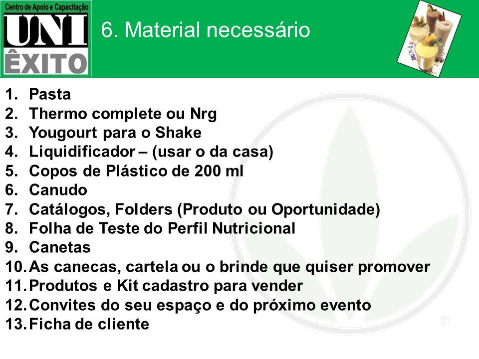 6. Material necessário Pasta Thermo complete ou Nrg