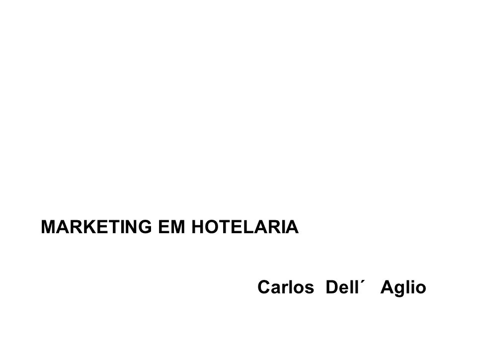 MARKETING EM HOTELARIA
