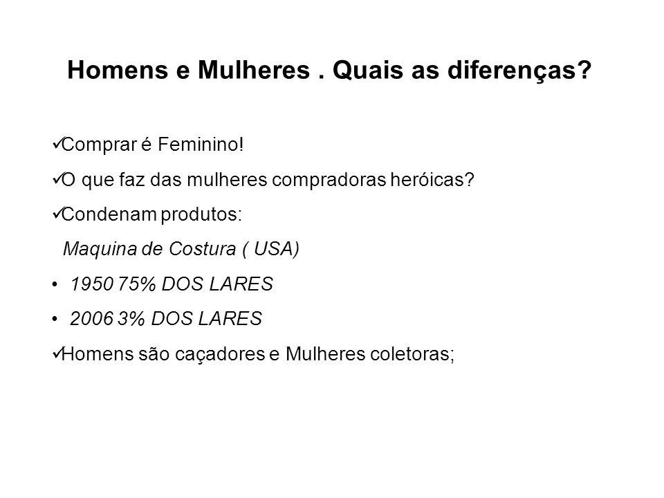 Homens e Mulheres . Quais as diferenças